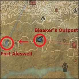 Bleaker's Outpost からFort Aleswell に進軍