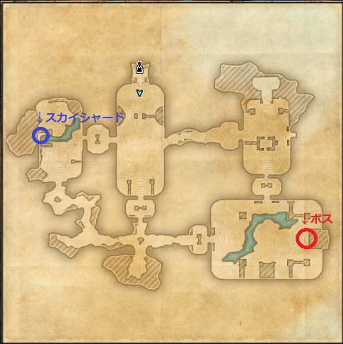 【ESO】Claw's Strikeのダンジョンmap