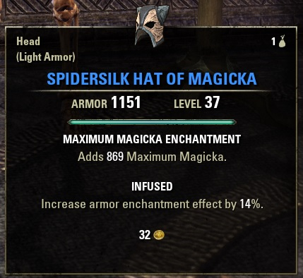 Spidersilk Hat of Magickaのステータス