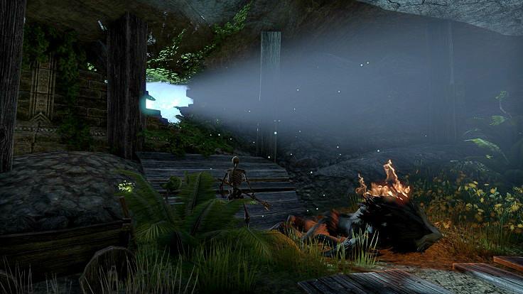Kuna's Delve外の光