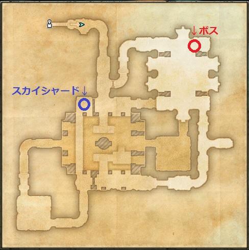 【ESO】Fardir's Follyのダンジョンmap