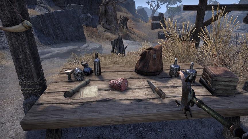Graystone Quarryで調理の素材集め