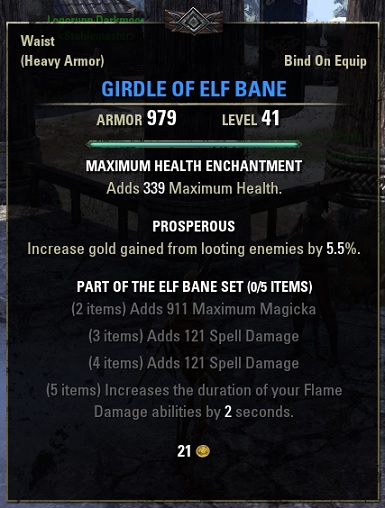 Girdle of Elf Bane