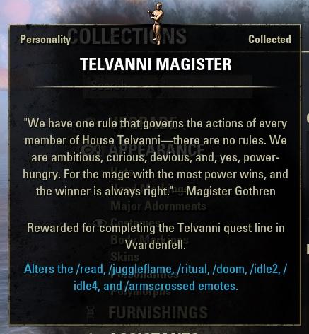 "Personality ""Telvanni Magister"""